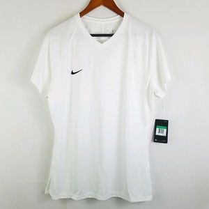 Nike Womens Tiempo White Short Sleeve Jersey